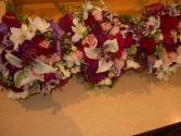 callas and roses nosegay arrangement