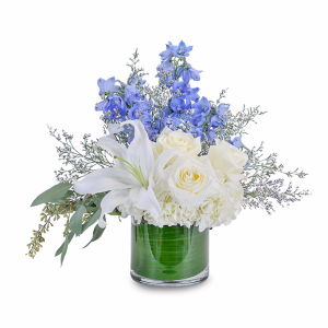 Calm and Cool Centerpiece in Naugatuck, CT | TERRI'S FLOWER SHOP