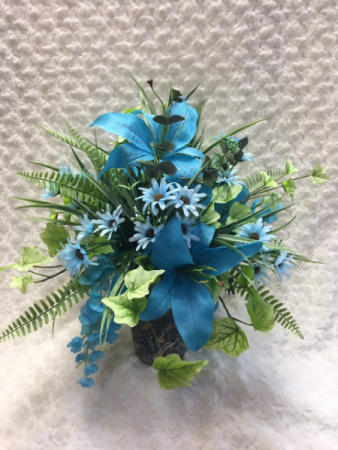 Calming Blue Display Permanent Arrangement