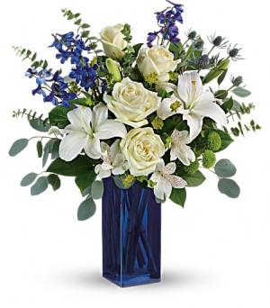 Calming Cobalt Bouquet  in Fort Collins, CO | D'ee Angelic Rose Florist