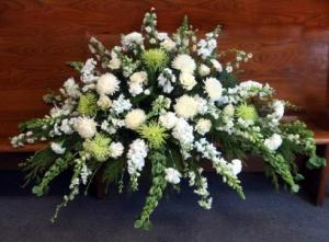Calming Grace Blanket Funeral arrangement in North Adams, MA | MOUNT WILLIAMS GREENHOUSES INC
