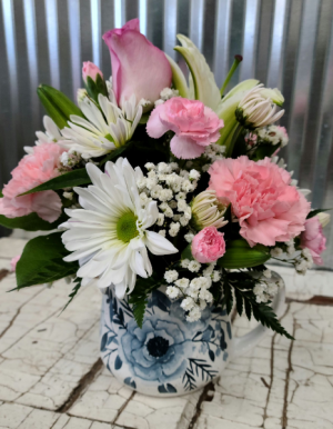 Camilla Rose Cup Spring Floral in Ceramic Cup in Shipshewana, IN | DUTCH BLESSING FLORAL