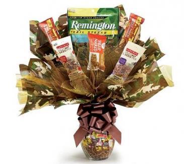 Camo Candy Kit Gift Basket