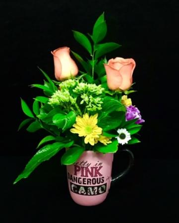Camo Pink  Spring Floral Mix