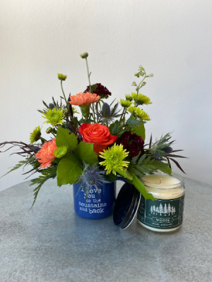 Camp Mug and Candle Set  in La Grande, OR | FITZGERALD FLOWERS