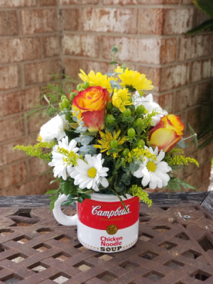 Campbell's Get Well Wishes Floral Mug in College Station, TX | UNIVERSITY FLOWERS & GIFTS