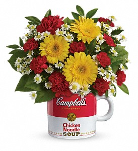 Campbell's Healthy Wishes Mug Arrangement in Saint Paul, MN | CENTURY FLORAL & GIFTS