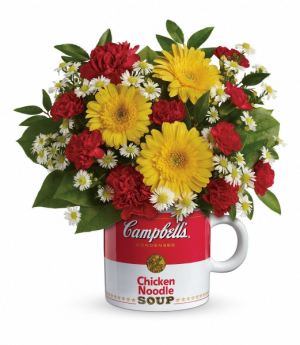 Campbell's Soup Mug Arrangement in North Bay, ON   ROSE BOWL FLORIST