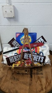 Campfire Basket S'mores candy arrangement