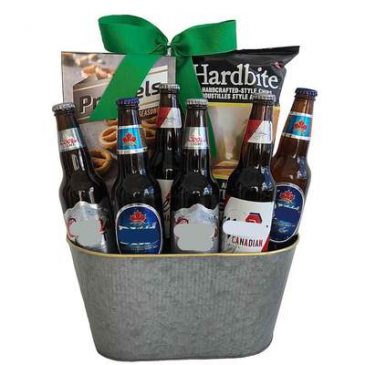 Canadian Beer Crate  Gift Basket For Him... or her