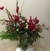 Canadian Christmas Vase Arrangement
