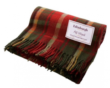 "Canadian Dark Maple Wool Blanket 70""x60"""