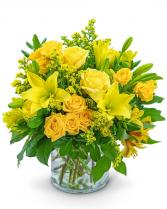 Canary Glow Flower Arrangement