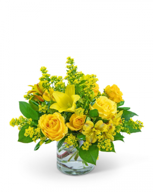 Canary Light Flower Arrangement in Nevada, IA | Flower Bed