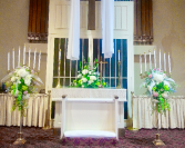 Candelabra at Church Ceremony