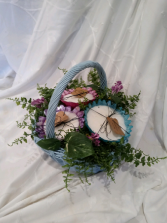 Candle Bouquet gift basket