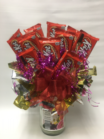 Candle candy bouquet