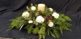 Candle in the Woods Christmas Arrangement