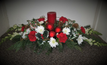 Candle Light Christmas Fresh Winter Greens Candle Centerpiece