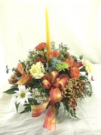 Candle Power Autumn arrangement
