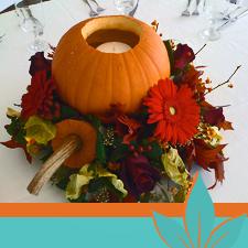 Candle Pumpkin Carved Pumpkin Arrangement