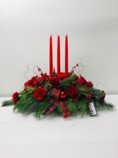 Candle Table Centerpiece Christmas Arrangement