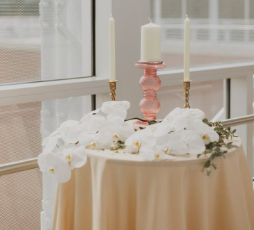 Candle Table Florals