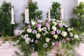 Candlelight Prayers Casket Spray