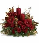 Candlelit Christmas Winter Bouquet