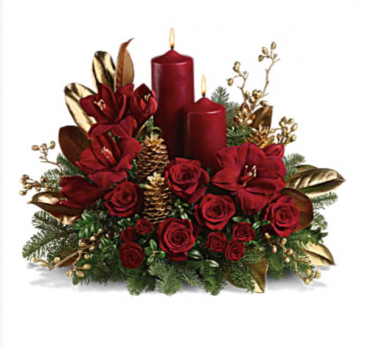 Candlelit Christmas  Table centerpiece