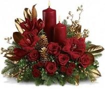 Candlelit Holiday Flowers Holiday