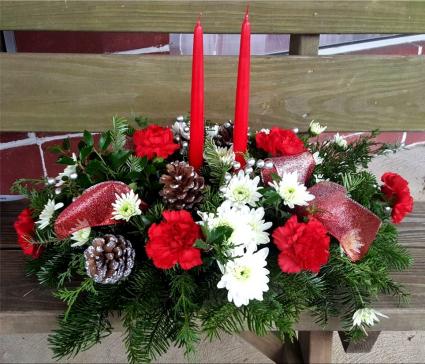 Candlelit Sparkles Centerpiece Arrangement