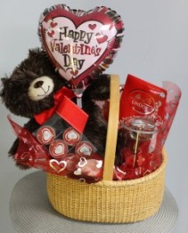 Candles and Chocolate Valentine Basket