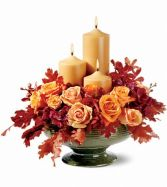 Candles of Autumn Fall Arrangement