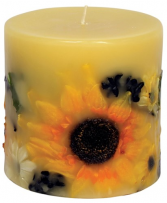 Candles Sunflower lemon vanilla luminary