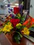 Candy and flower bouquet  Mug arrangement