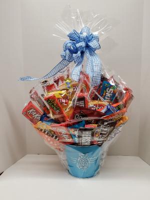 "Candy and  Snack Basket  in Westbury, NY | Flowers by Micki ""fka"" Flowers By Carole"