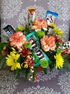 candy bar bouquet bouquet in tillamook or florist