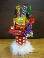 Candy Bar & Koozie Bouquet