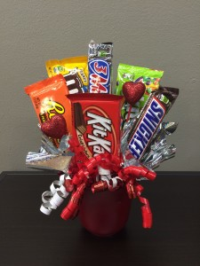 Candy Bar  Valentines Day Bouquet