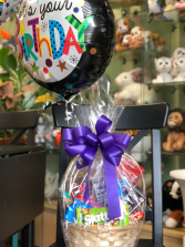 Candy Basket with Balloon  Gift Basket