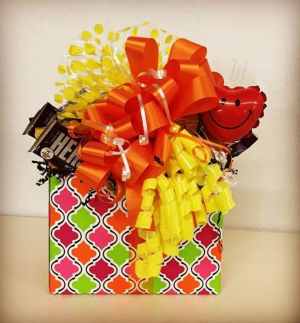 Candy Bouquet for Her Bright and Cheery  in Plainview, TX | Kan Del's Floral, Candles & Gifts