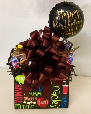 Candy Bouquet For Him Sweet and Salty Mix in Plainview, TX | Kan Del's Floral, Candles & Gifts