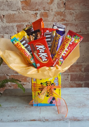 Candy Bouquet Gift Basket in New Castle, IN | WEILAND'S FLOWERS