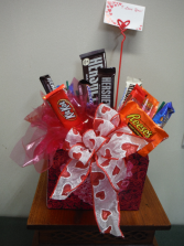 Candy Bouquet  Valentine's Day candy bouquet