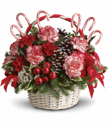 Candy cane basket Christmas