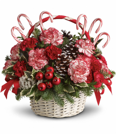 Candy cane basket Christmas