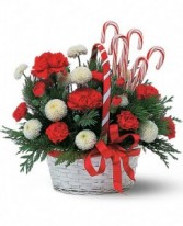 Candy Cane Basket  Arrangement