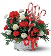 Candy Cane Basket Holiday-Christmas