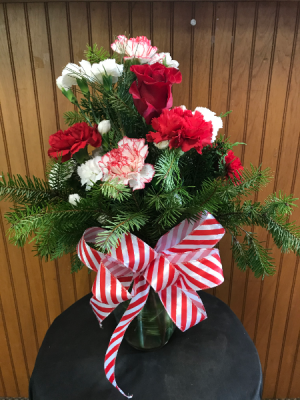 Candy Cane Bouquet  in Yankton, SD | Pied Piper Flowers & Gifts